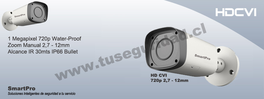 Camara Bullet Varifocal HD CVI 2,7-12mm IR 30mts